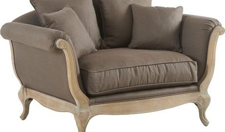 Confort baroque pour ce canapé en tissus Pompadour